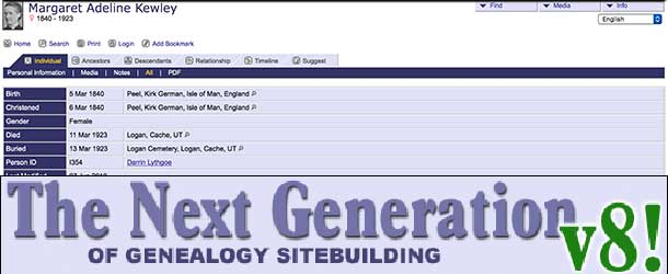 The Next Generation of Genealogy Sitebuilding 8.0.2
