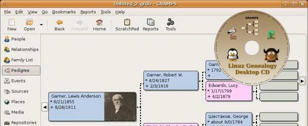 Linux Genealogy Desktop CD 6.1 / GRAMPS 3.2.5