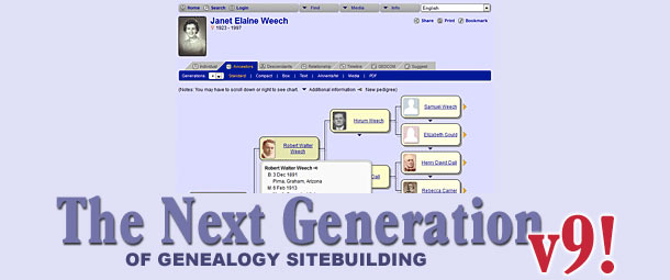 The Next Generation of Genealogy Site Building 9.0.1